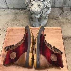 Converse Shoes - Converse X Woolrich High-Top Lace-Up Sneakers